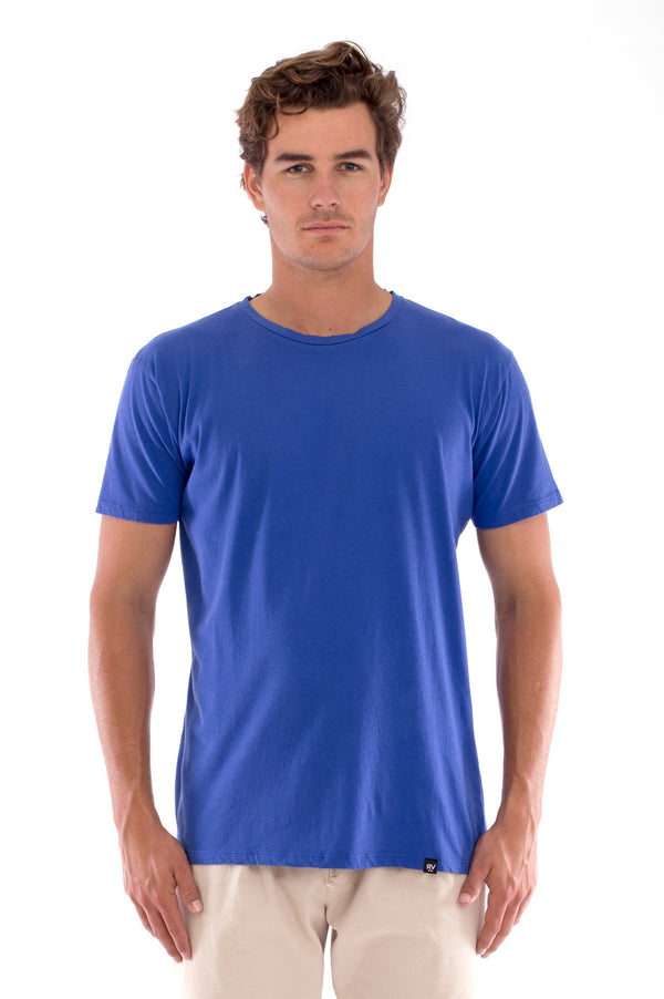 Azur basic tee - Round Neck - Tshirt - Colour Blue and Monaco Pants - Colour Sand 2