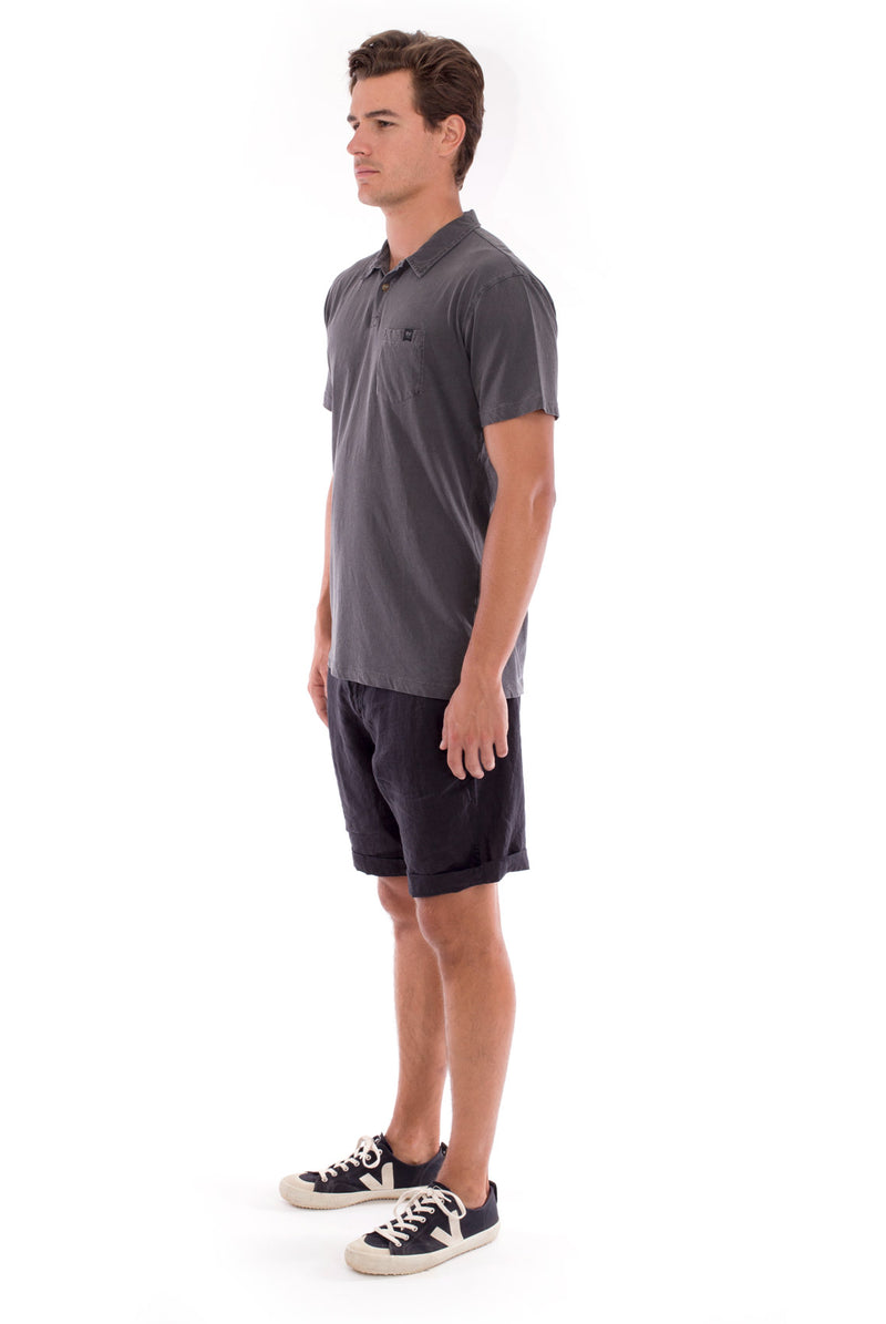 Polo with pocket - Colour Anthracite and Capri Shorts - Colour Black 3