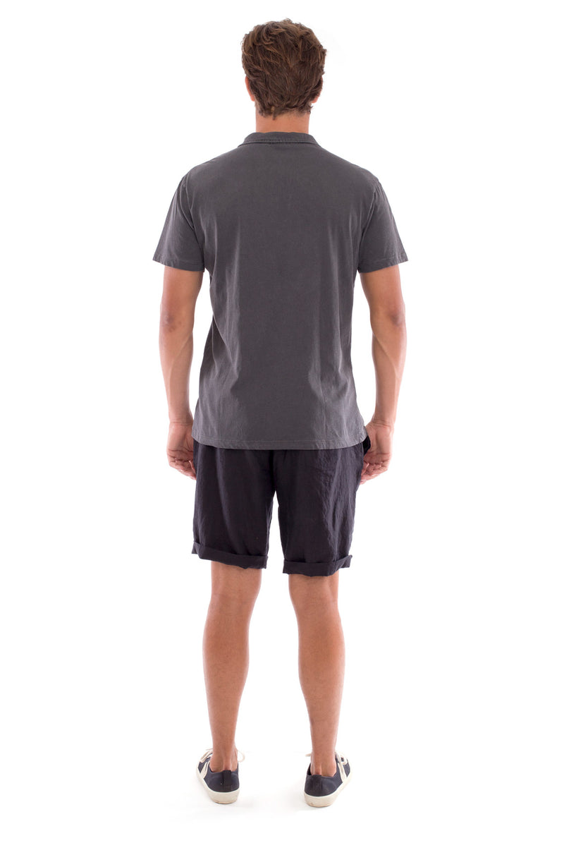 Polo with pocket - Colour Anthracite and Capri Shorts - Colour Black 4