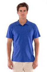 Polo with pocket - Colour Blue and Raven Shorts - Colour Sand 2