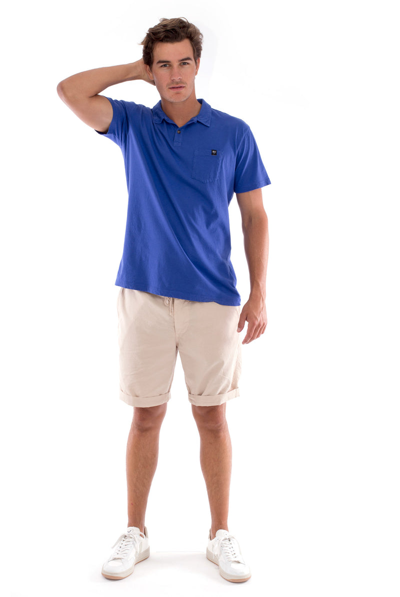 Polo with pocket - Colour Blue and Raven Shorts - Colour Sand 1