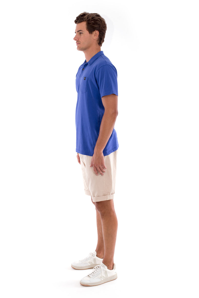 Polo with pocket - Colour Blue and Raven Shorts - Colour Sand 3