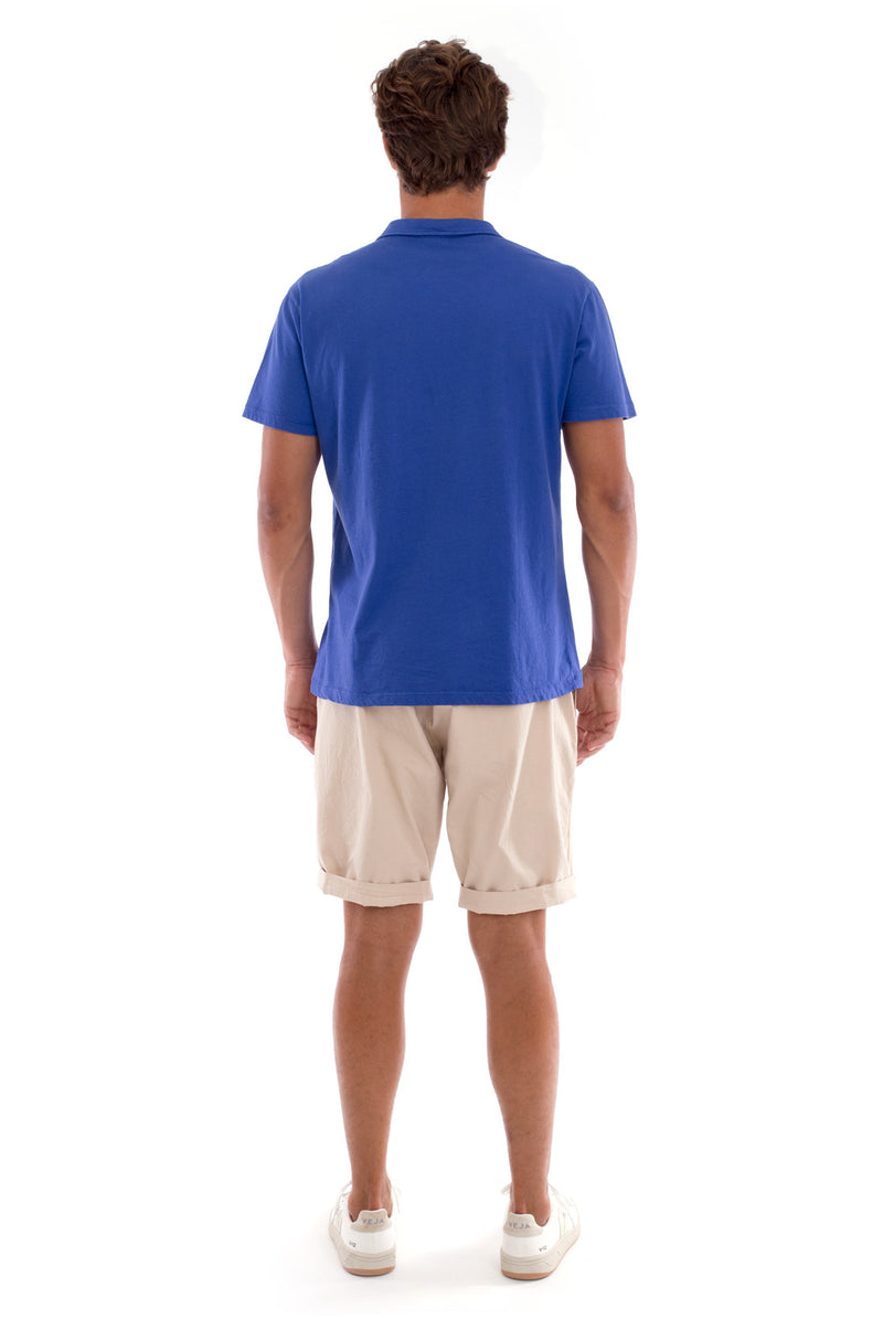 Polo with pocket - Colour Blue and Raven Shorts - Colour Sand 4