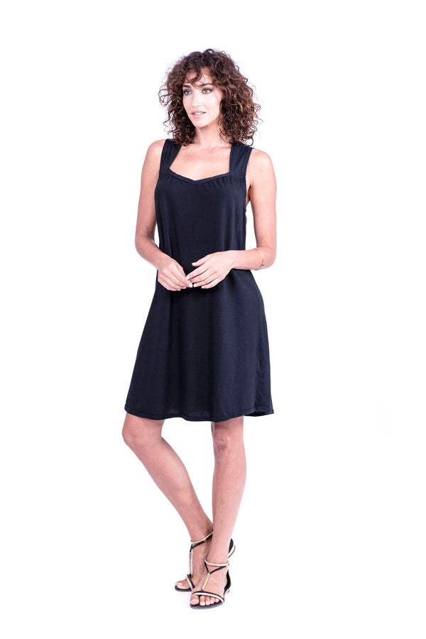 Capri - Short Dress - Colour Black - RV by Elisa F 1