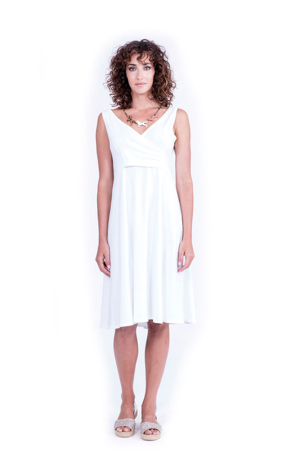 Milan - Midi Dress - Colour White - RV by Elisa F 1