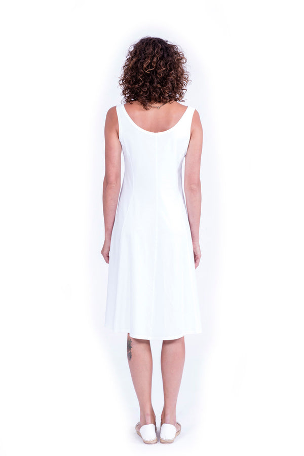 Milan - Midi Dress - Colour White - RV by Elisa F 2