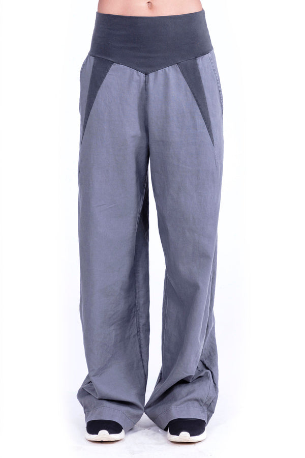 Lima - Linen pants - Colour Antracite - Elisa F 1