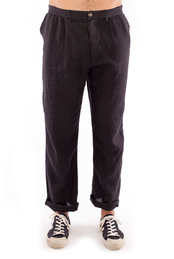 Positano - Linen Pants - Colour Black 1