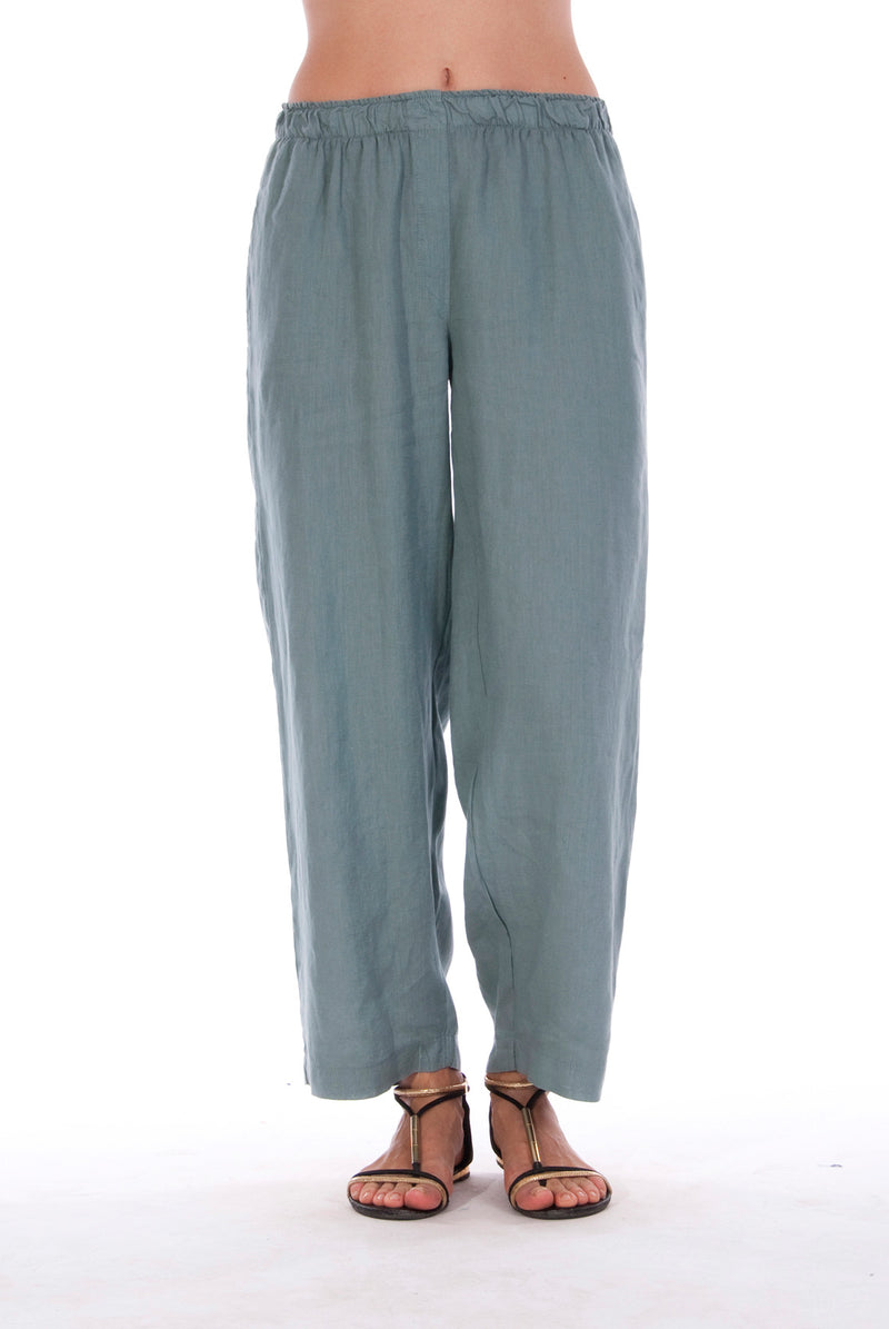 Malta - Linen Pants - RV by Elisa F - Colour Green 1
