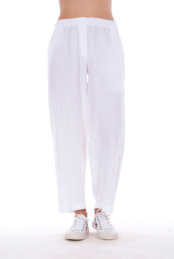 Malta - Linen Pants - RV by Elisa F - Colour White