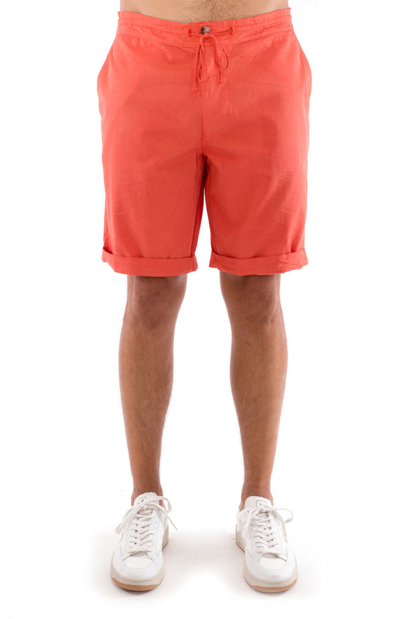 Raven - Shorts - Draw Cord Waist - Colour Terracotta 2