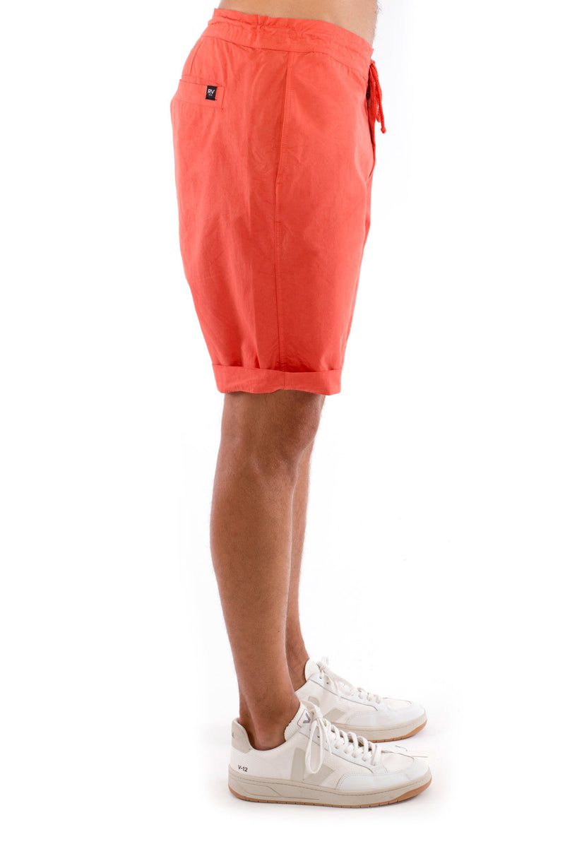 Raven - Shorts - Draw Cord Waist - Colour Terracotta 3