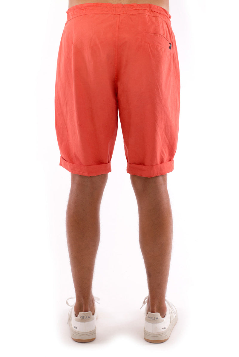 Raven - Shorts - Draw Cord Waist - Colour Terracotta 4