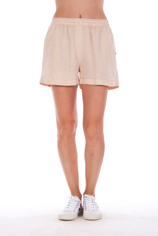 Creta - Linen Shorts - RV by Elisa F - Colour Sand 1