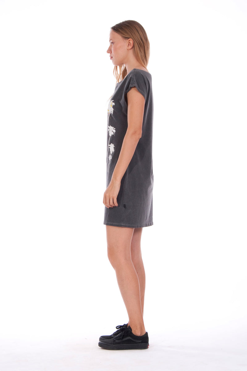 Live your life - Loose Fit - Boat Neck - Dress - Colour Anthracite -3