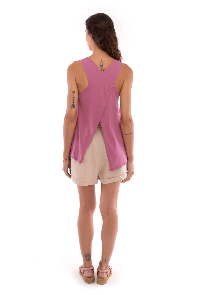 Salty but sweet - Sleeveless - Tank top - Colout Violet and Creta shorts - Colour Sand 3