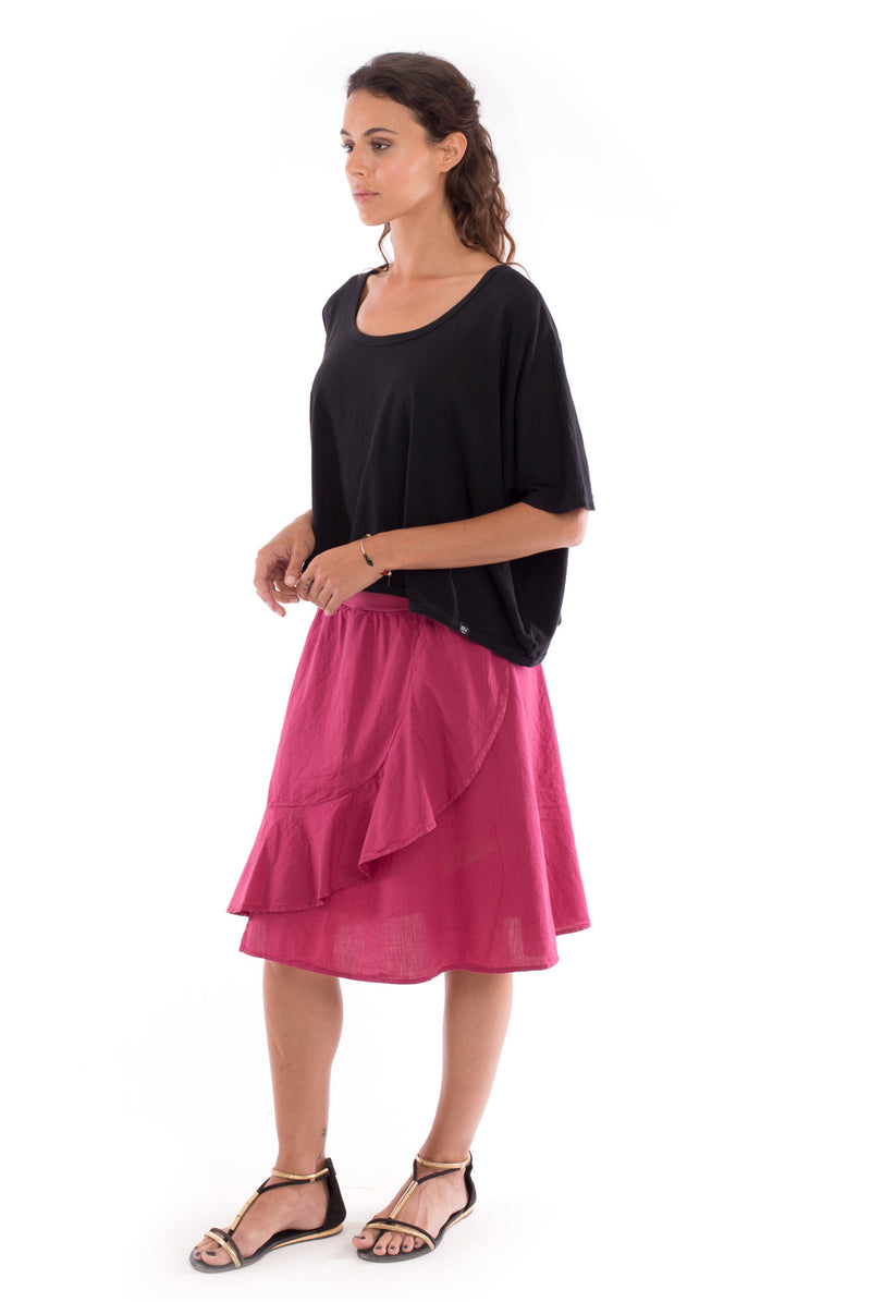 Bahamas - Skirt - Colour Garnet and Square Top - Colour Black - RV by Elisa F 2
