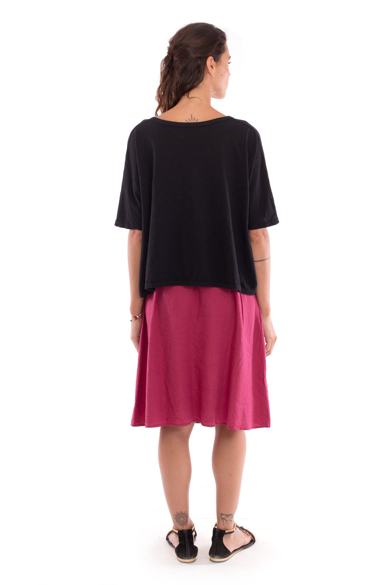 Bahamas - Skirt - Colour Garnet and Square Top - Colour Black - RV by Elisa F 3