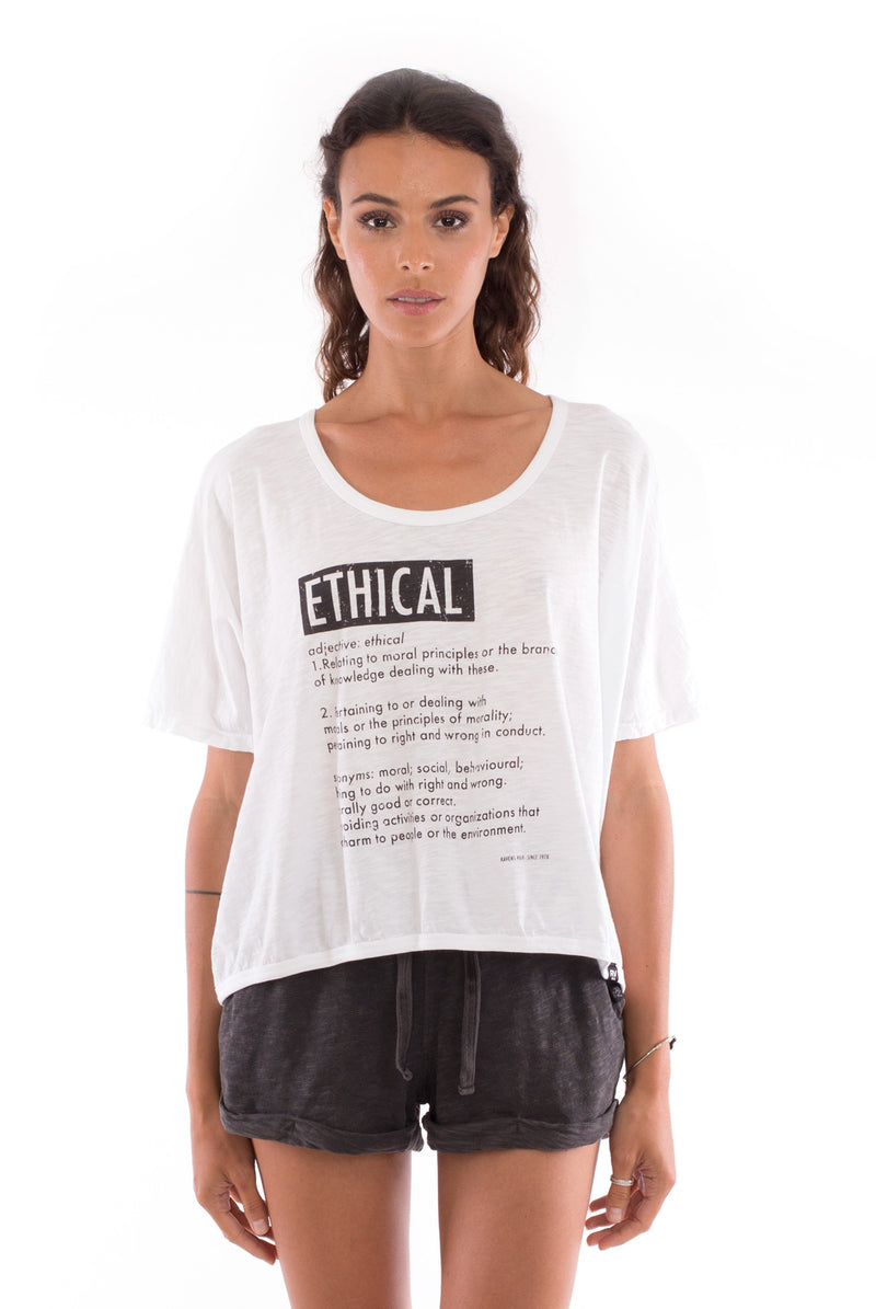 Ethical - Round Neck - Loose Fit - Top and sunset mini shorts - Colour Anthracite - 2
