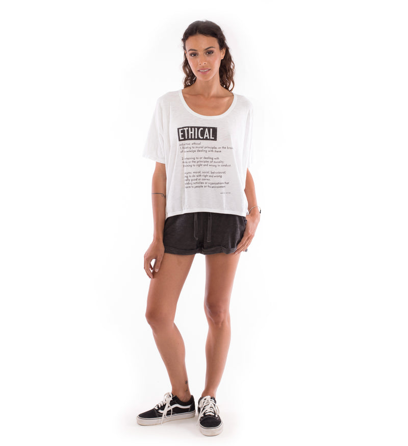 Ethical - Round Neck - Loose Fit - Top and sunset mini shorts - Colour Anthracite - 4