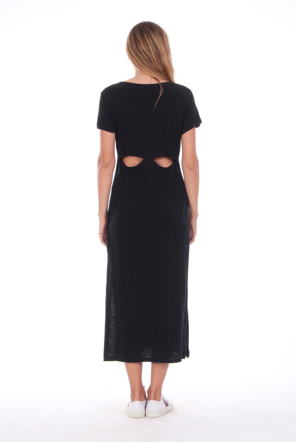 Uma - Midi Dress - Colour Black 1 - RV by Elisa F