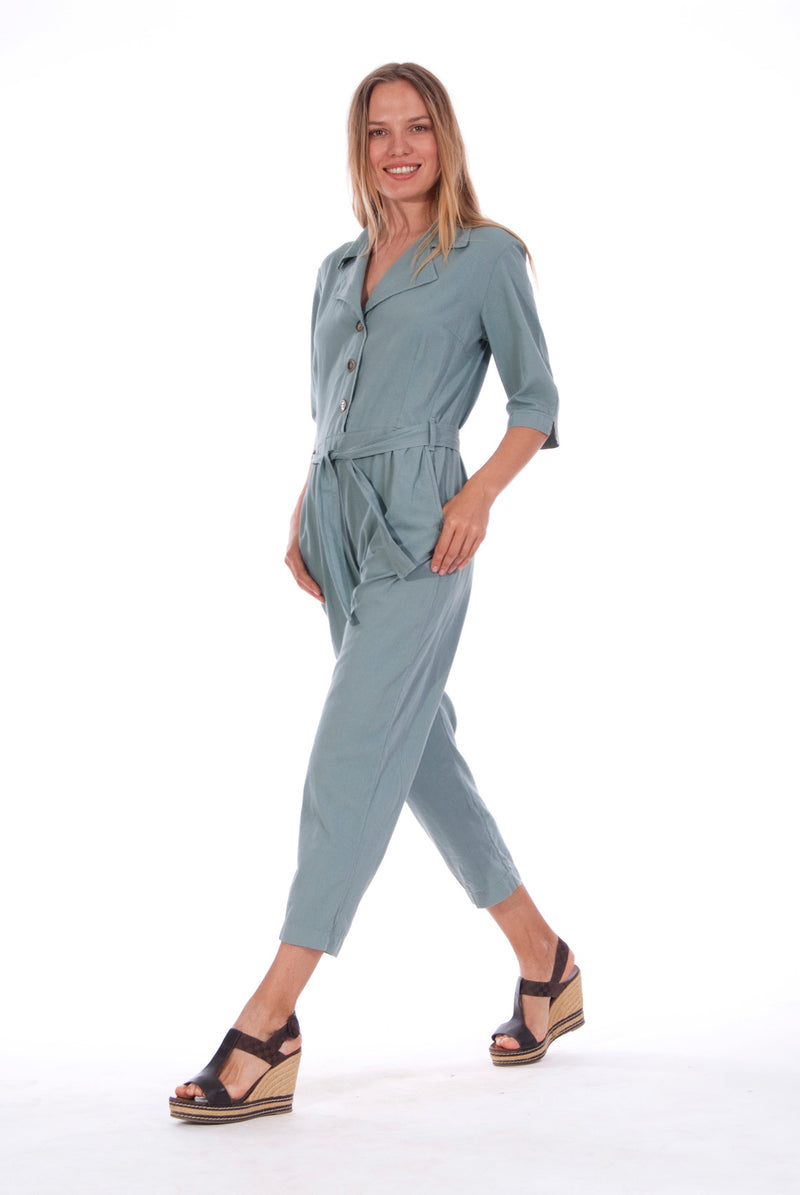 Chic Mono - Jumpsuit - RV by Elisa F - Colour Green 3