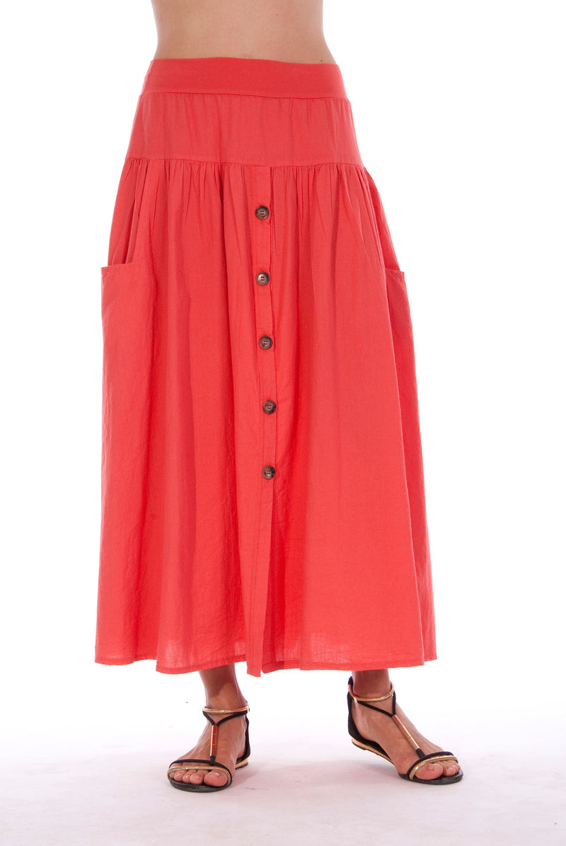 Athena - Long Skirt - RV by Elisa F - Colour Red 1