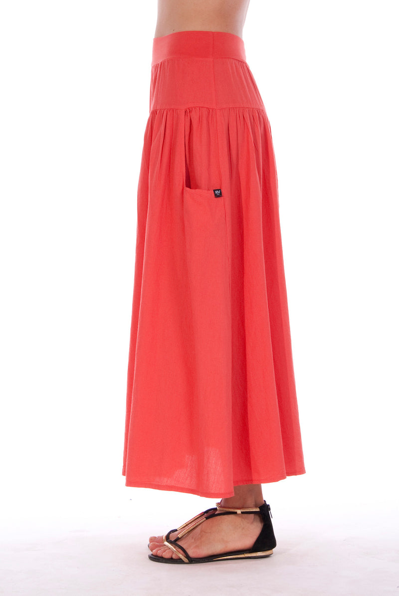 Athena - Long Skirt - RV by Elisa F - Colour Red 2