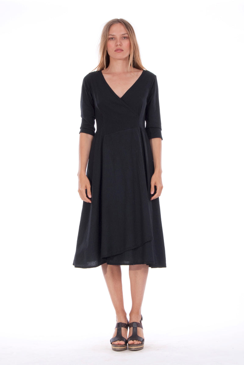 Emma - Midi Dress - Colour Black 4 - RV by Elisa F