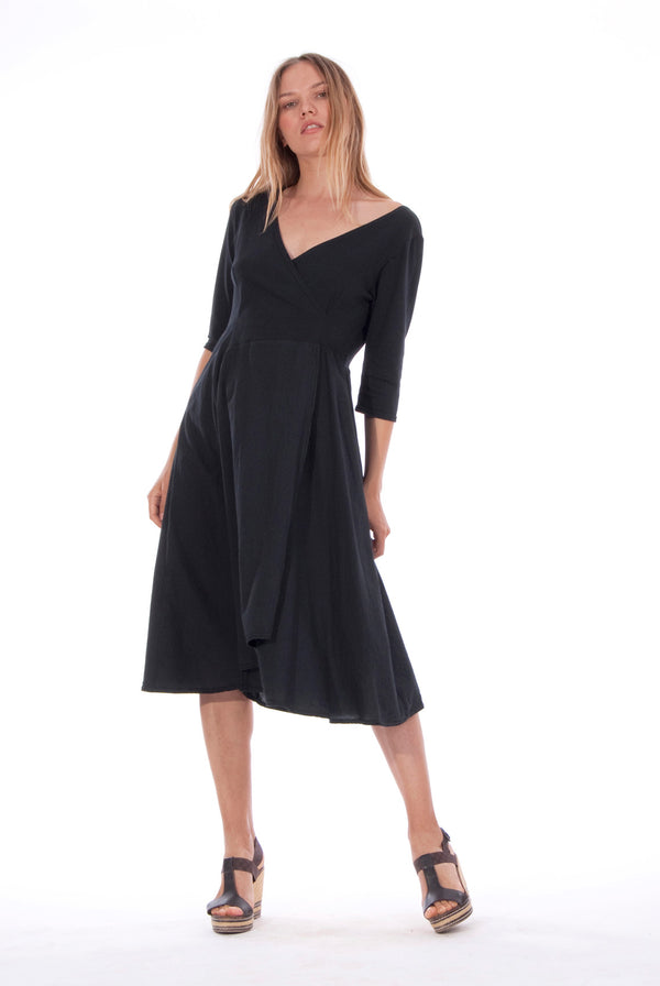Emma - Midi Dress - Colour Black 1 - RV by Elisa F