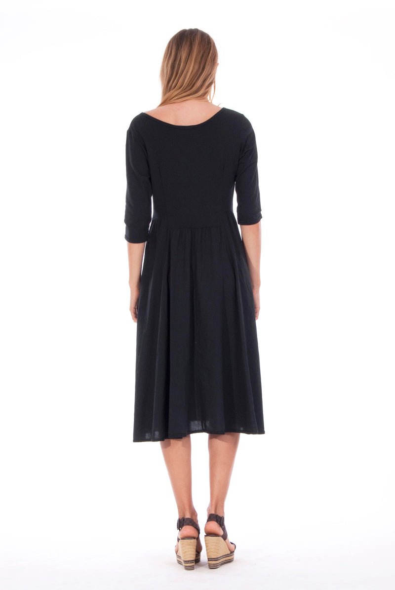 Emma - Midi Dress - Colour Black 2- RV by Elisa F