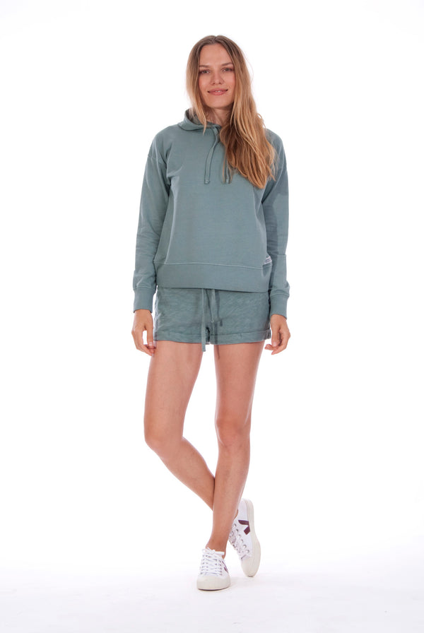 Vedra - Hoodie - Colour Green and Sunset Mini Shorts - Colour Green 1