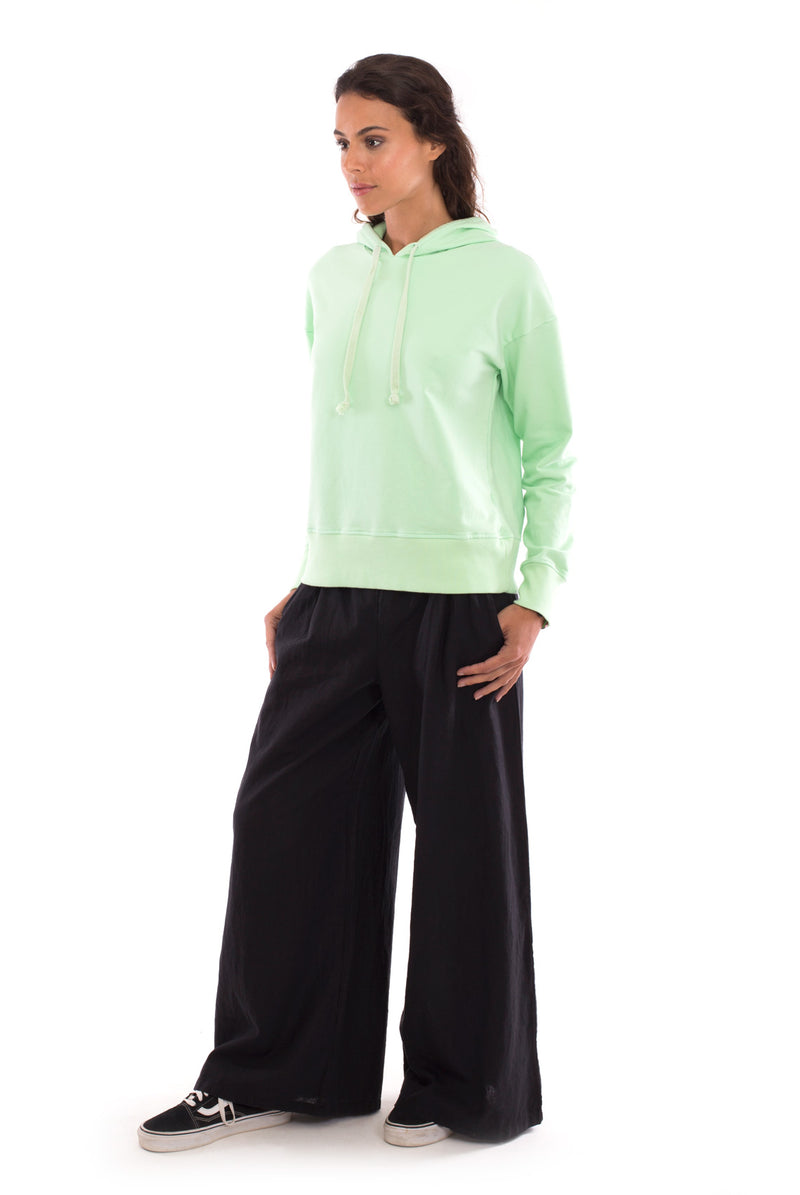 Eva - Wide Leg Pants - Colour Black and Vedra - Hoodie - Colour Black - RV by Elisa F 3