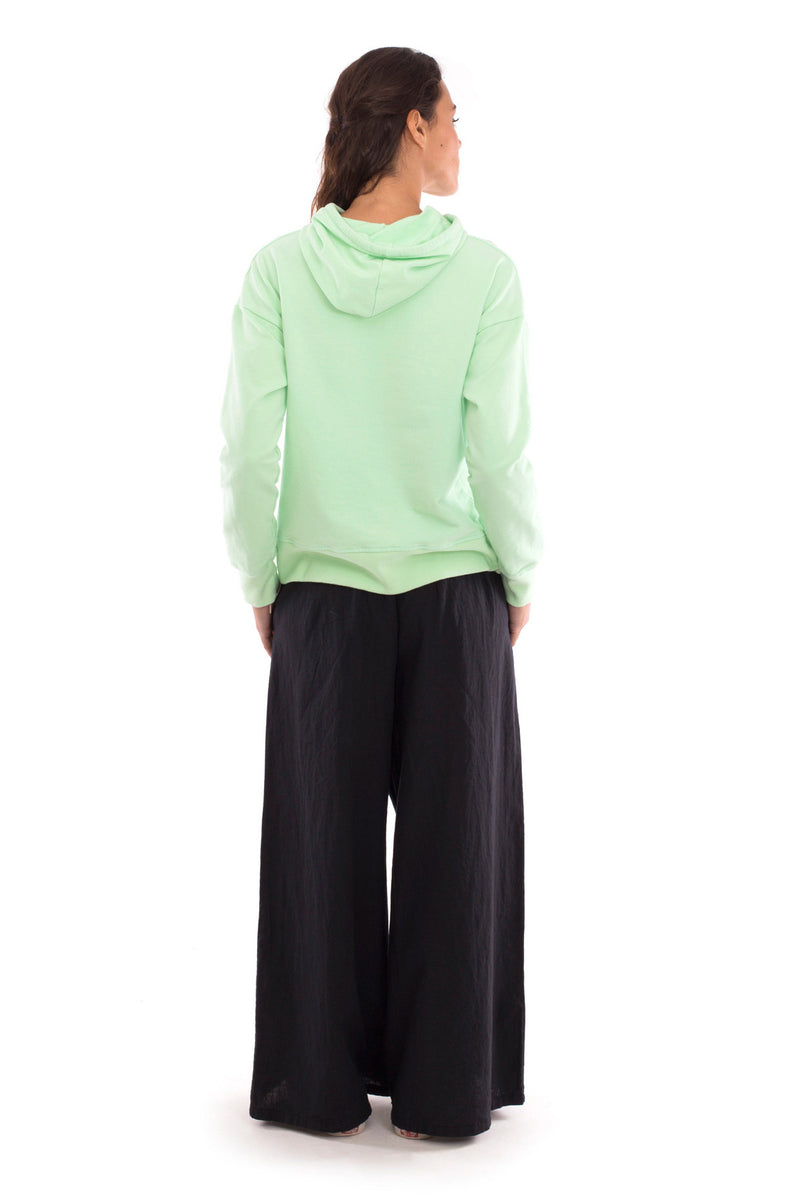 Eva - Wide Leg Pants - Colour Black and Vedra - Hoodie - Colour Black - RV by Elisa F 1
