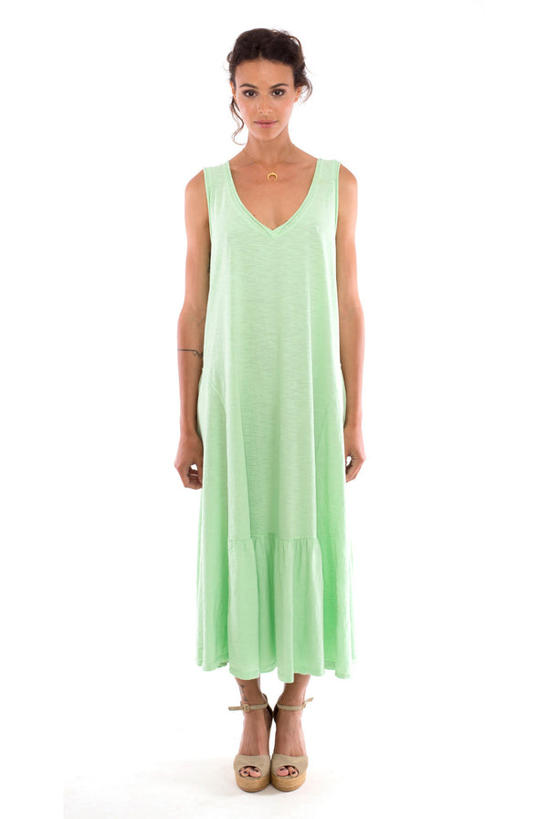 Luna - Maxi Dress - Sleeveless - Colour Mint - RV by Elisa F-1