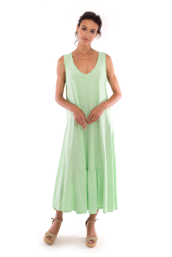 Luna - Maxi Dress - Sleeveless - Colour Mint - RV by Elisa F-2