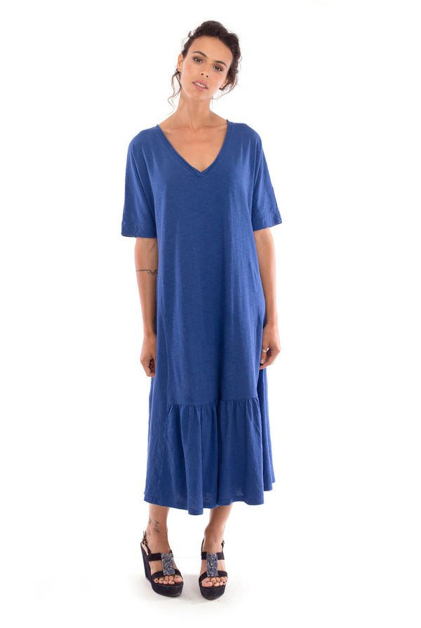 Luna - Long sleeve - Maxi Dress - Colour Blue-- RV by Elisa F 1