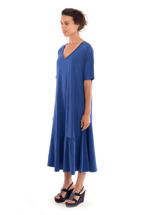 Luna - Long sleeve - Maxi Dress - Colour Blue-- RV by Elisa F 2