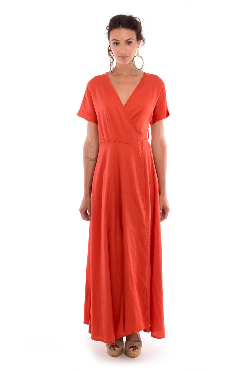Calypso - Wrap Dress - Colour Terracotta - RV by Elisa F 1