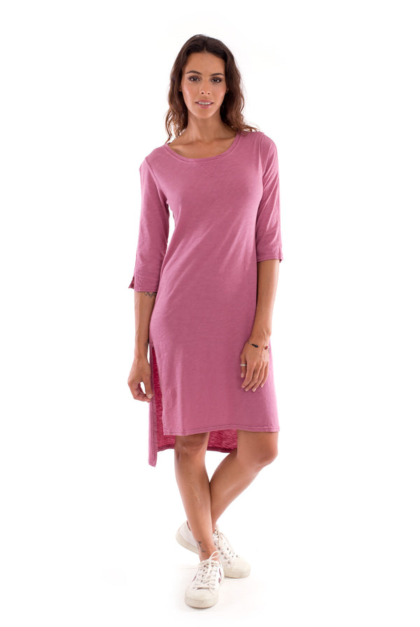 Mia - Long Sleeve- Dress - Colour violet-1