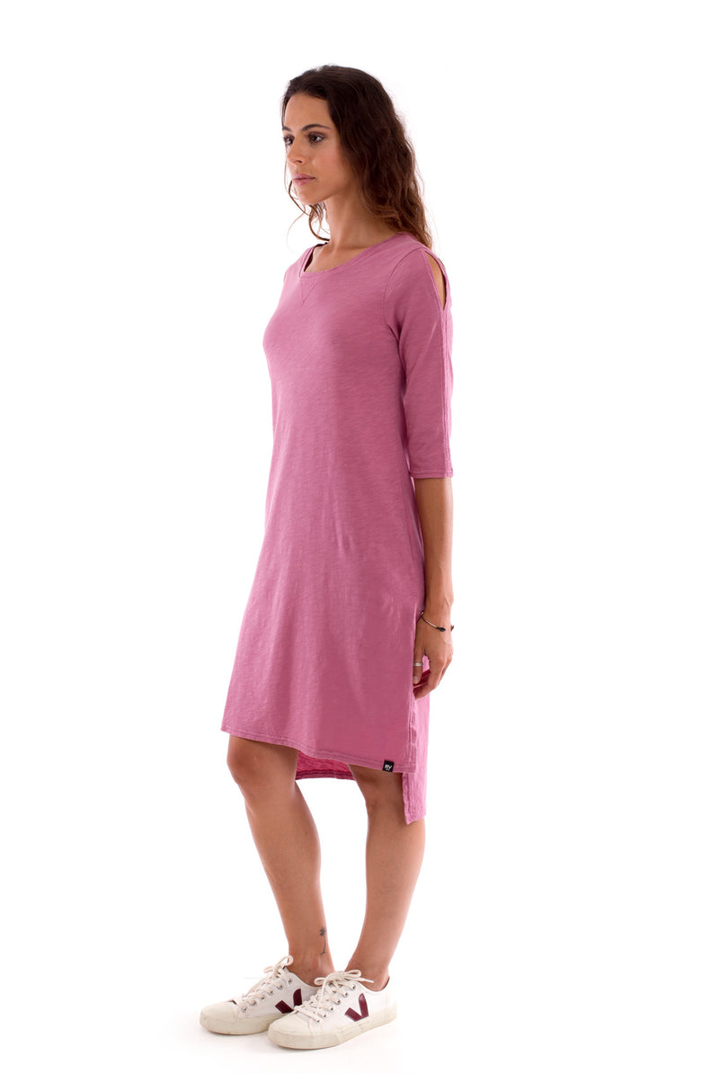 Mia - Long Sleeve- Dress - Colour violet-2