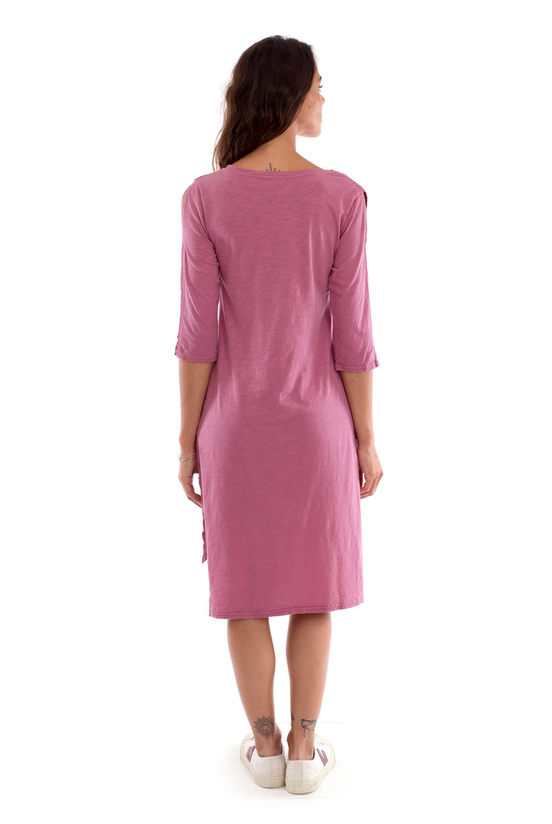 Mia - Long Sleeve- Dress - Colour violet-3