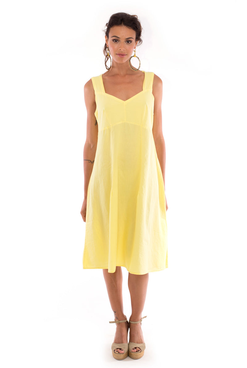 Anouk - Midi Dress - Colour Yellow - RV by Elisa F3