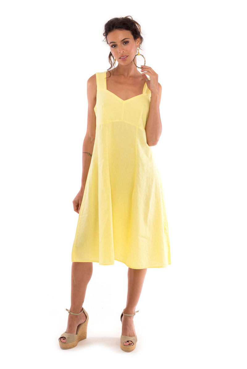 Anouk - Midi Dress - Colour Yellow - RV by Elisa F1
