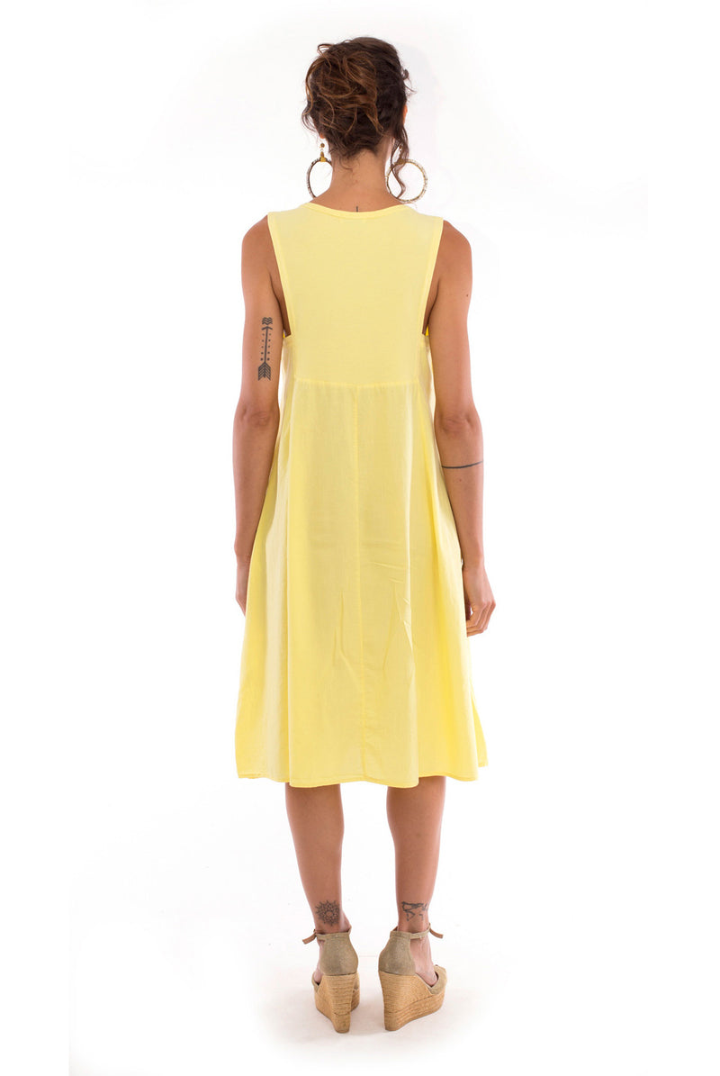 Anouk - Midi Dress - Colour Yellow - RV by Elisa F2