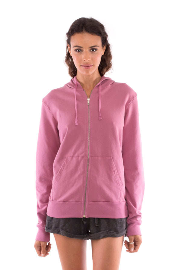 Vedra - Zip Hoodie - Colour Violet and sunset mini shorts colour anthracite 2