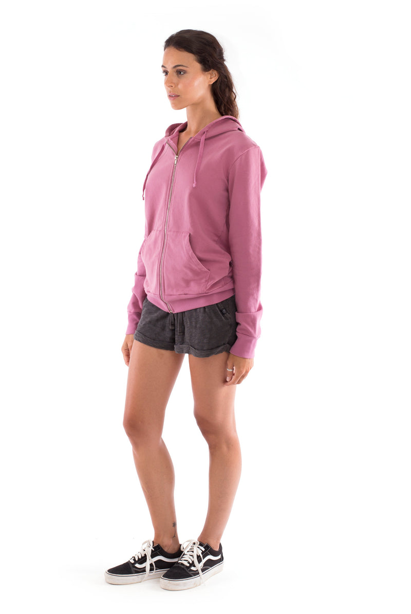 Vedra - Zip Hoodie - Colour Violet and sunset mini shorts colour anthracite 4
