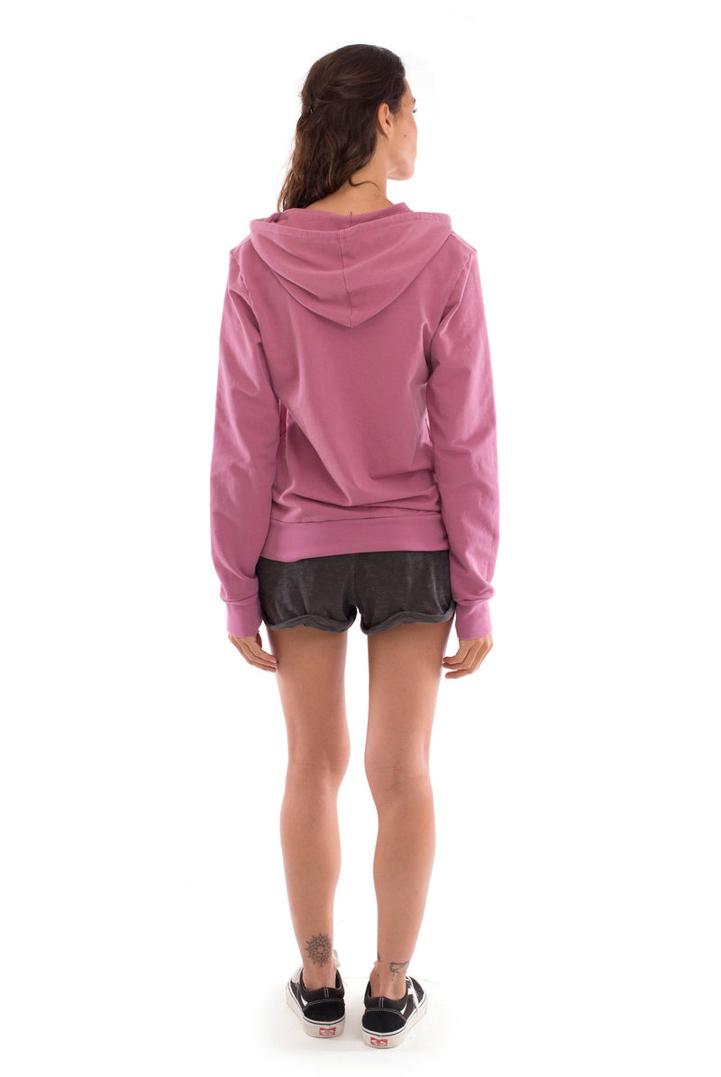 Vedra - Zip Hoodie - Colour Violet and sunset mini shorts colour anthracite 3