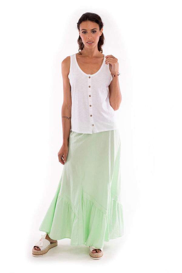 Selma - Skirt - Colour Mint and Athena Top - Colour White - RV by Elisa F