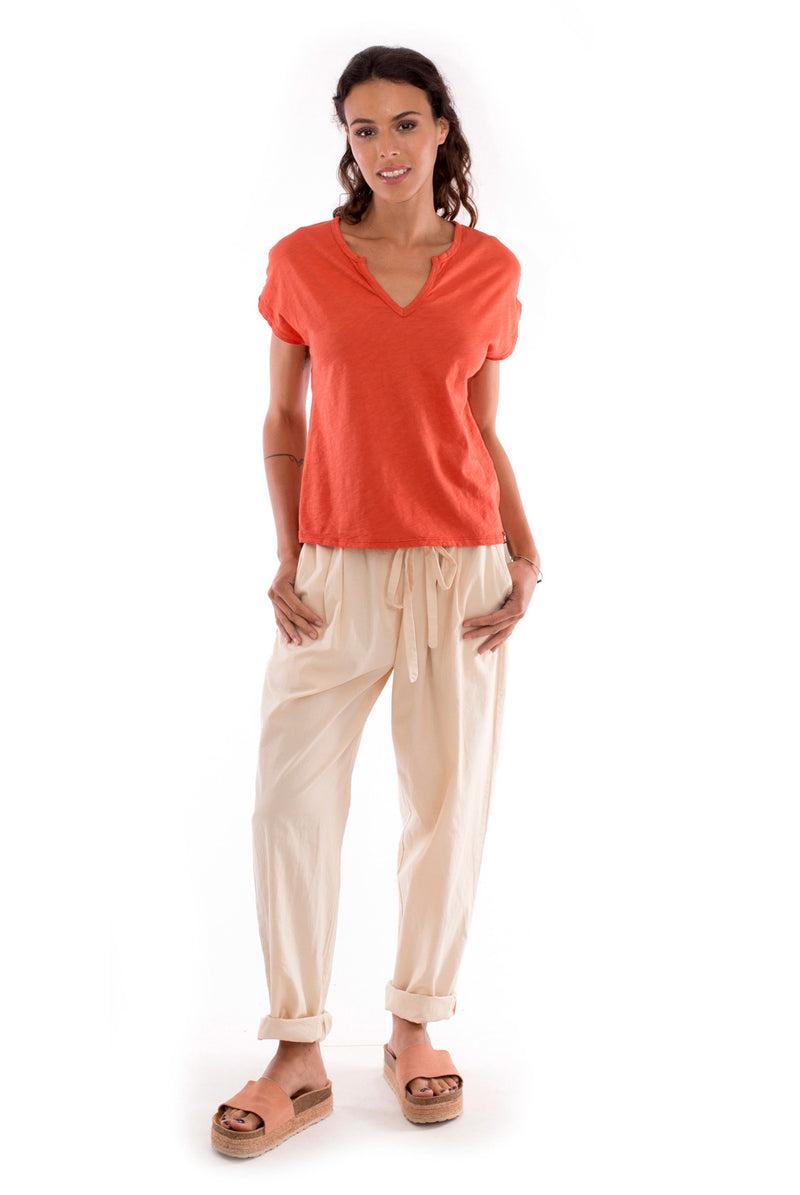 Santorini Pants - Colour Sand and Hera - Top - Colour Terracotta